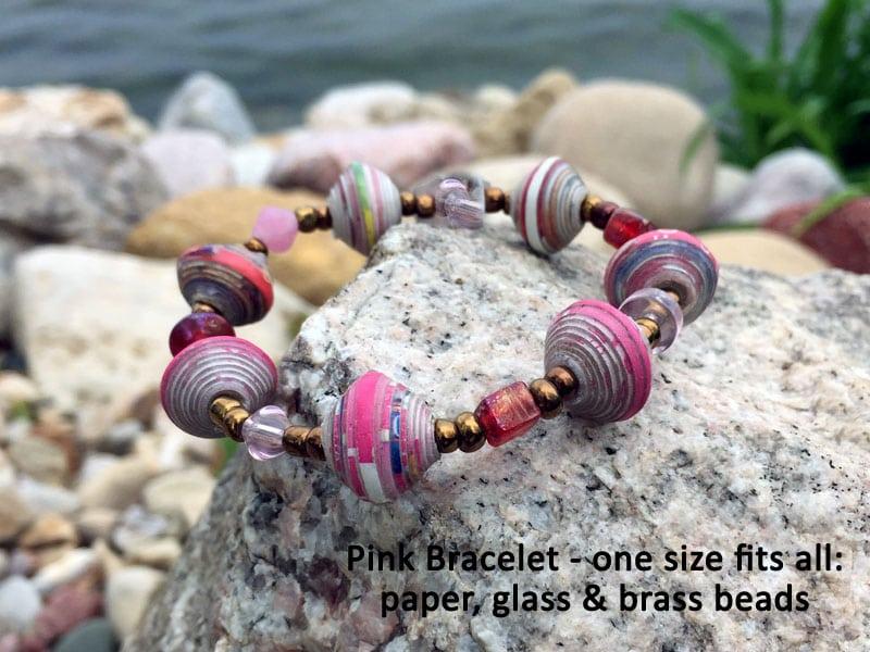 pink bracelet haiti