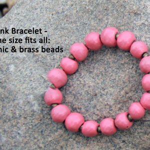 pink ceramic bracelet
