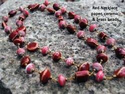 red ceramic necklace