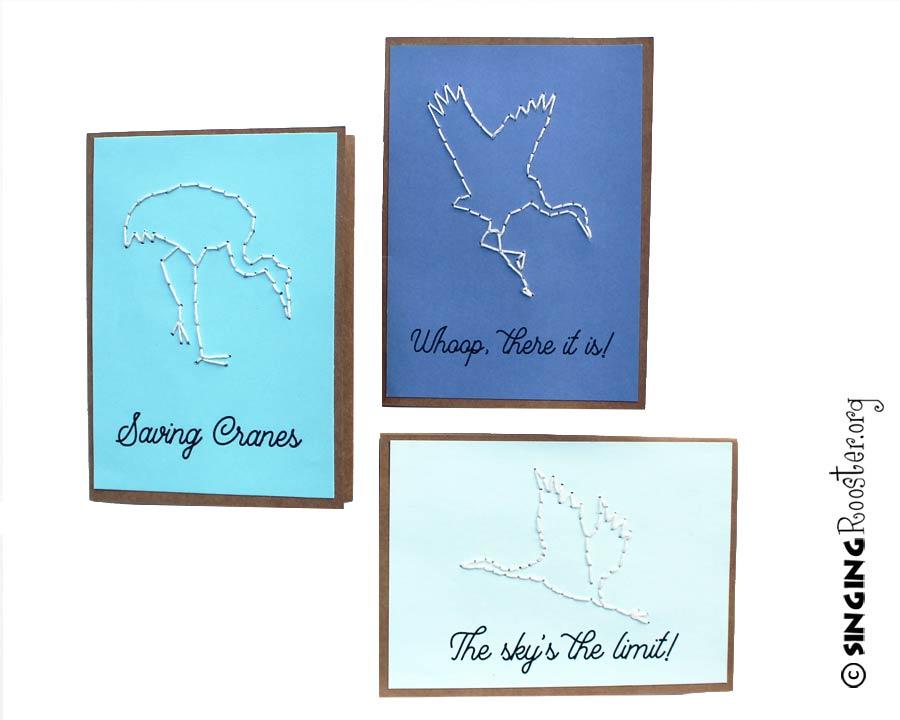saving cranes, note cards