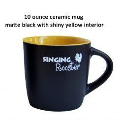 singing rooster coffee mug