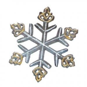 metal snowflake ornament, Singing Rooster