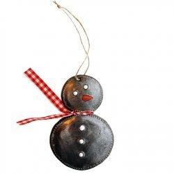 snowman haiti ornament