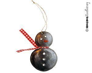 snowman haiti ornament