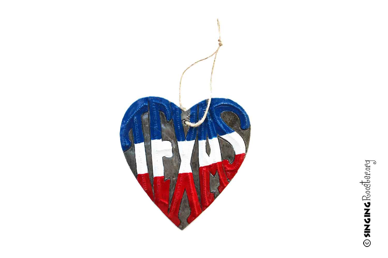 Texas heart ornament