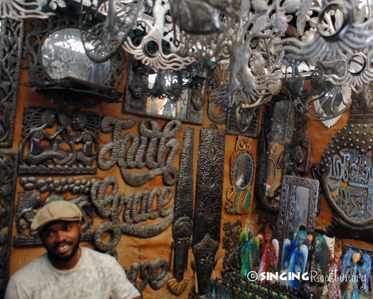 How Haitian metal art is made