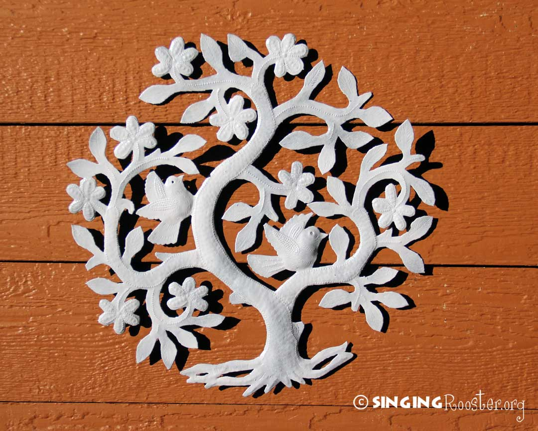 Tree Of Life Metal Wall Art Snowy Tree Of Life Fair Trade Metal Wall Art Haiti