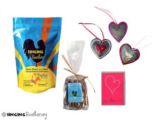 Valentine gift, coffee, caramels, Singing Rooster