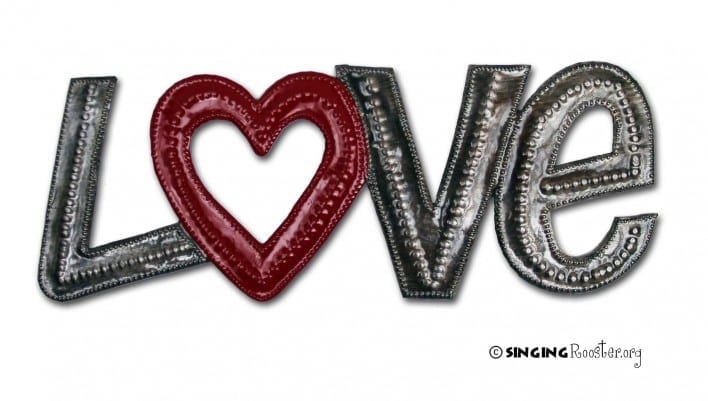 word art love haiti