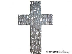 buy word art metal cross from Haiti online