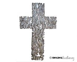 buy metal cross word wall art online