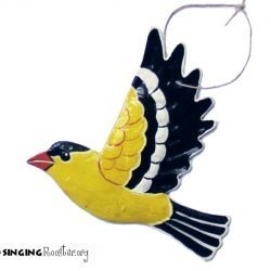 yellow finch christmas ornament